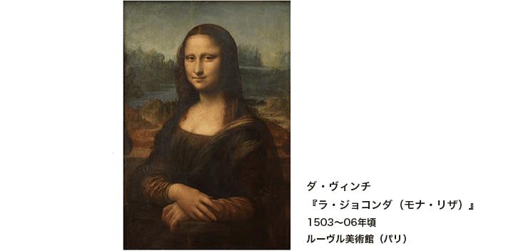 ダ・ヴィンチ『ラ・ジョコンダ(モナ・リザ)』1503~06年頃 ルーヴル美術館(パリ)
