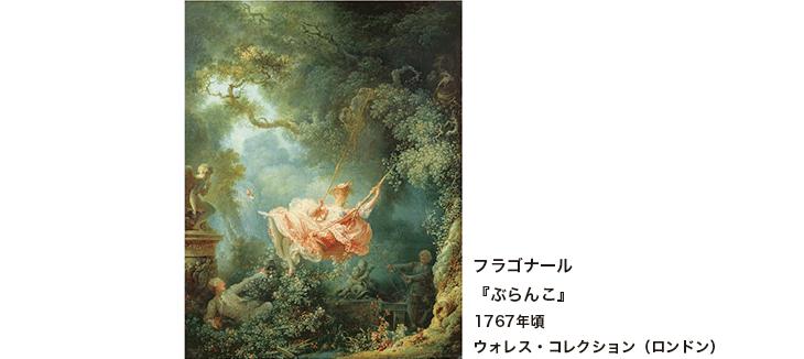 フラゴナール『ぶらんこ』1767年頃 ウォレス・コレクション(ロンドン)